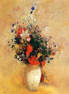 Odilon Redon - Flowers in a Blue Vase
