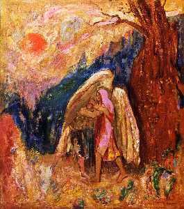 Odilon Redon - Jacob Wrestling with the Angel