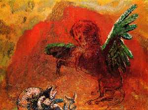 Odilon Redon - Pegasus and the Hydra