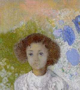 Odilon Redon - Portrait of Genevieve de Gonet as a Child