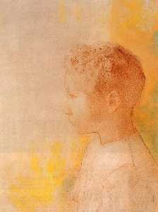 Odilon Redon - Portrait of the Son of Robert de Comecy