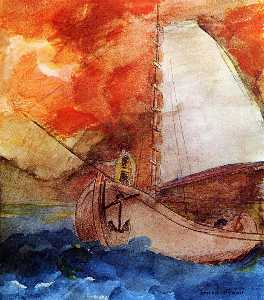 Odilon Redon - The Boat 1