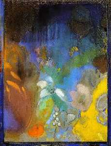 Odilon Redon - Woman in Profile with Flowers