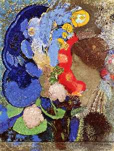 Odilon Redon - Woman with Flowers