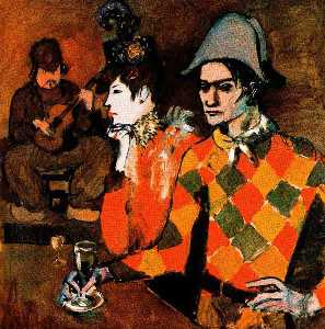 Pablo Picasso - At the --Lapin Agile--