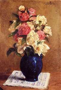 Paul Gauguin - Boquet of Peonies on a Mu..