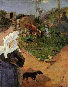 Paul Gauguin - Breton Women at the Turn