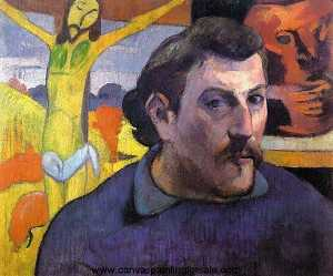 Paul Gauguin - Self Portrait with -Yellow Christ-