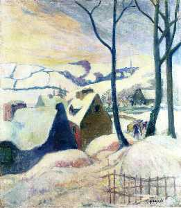 Paul Gauguin - Village in the snow