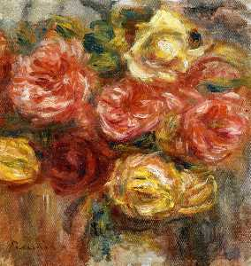 Pierre-Auguste Renoir - Bouquet of Roses in a Vase