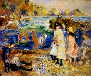 Pierre-Auguste Renoir - Children by the Sea in Guernsey