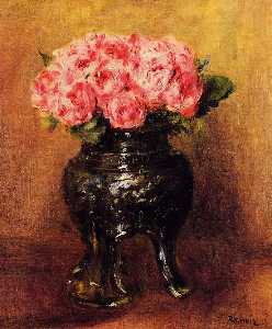 Pierre-Auguste Renoir - Roses in a China Vase