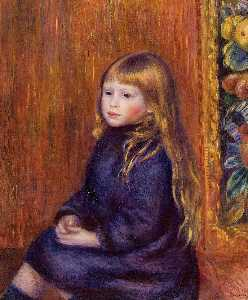 Pierre-Auguste Renoir - Seated Child in a Blue Dress