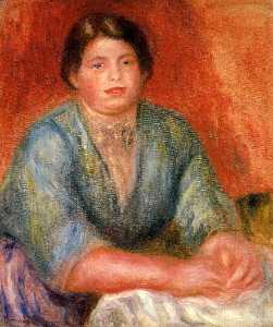 Pierre-Auguste Renoir - Seated Woman in a Blue Dress