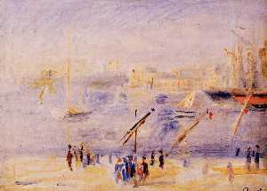 Pierre-Auguste Renoir - The Old Port of Marseille, People and Boats