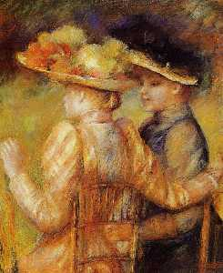 Pierre-Auguste Renoir - Two Women in a Garden