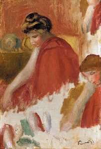 Pierre-Auguste Renoir - Two Women in Red Robes