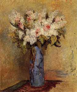 Pierre-Auguste Renoir - Vase of Lilacs and Roses