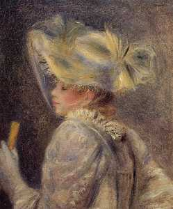 Pierre-Auguste Renoir - Woman in a White Hat