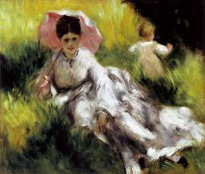 Pierre-Auguste Renoir - Woman with Parasol