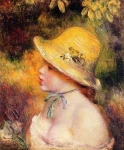 Pierre-Auguste Renoir - Young Girl in a Straw Hat 1