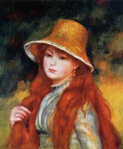 Pierre-Auguste Renoir - Young Girl in a Straw Hat