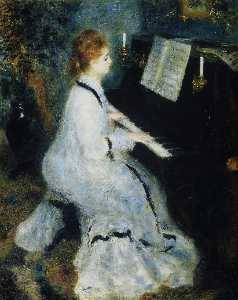 Pierre-Auguste Renoir - Young Woman at the Piano