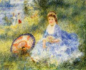 Pierre-Auguste Renoir - Young Woman with a Japanese Umbrella