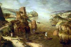 Pieter Bruegel The Elder - Landscape with Christ Appearing to the Apostles at the Sea of Tiberias