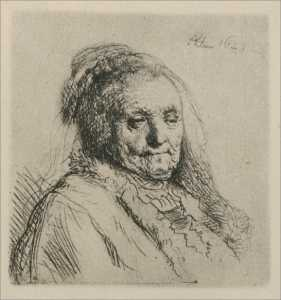 Rembrandt Van Rijn - Bust of an Old Woman, Rembrandt-s Mother