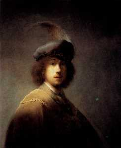 Rembrandt Van Rijn - Self­portrait In A Plumed Hat