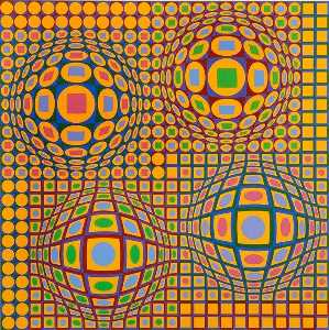 Victor Vasarely - Quadrature