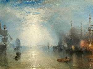 William Turner - Keelmen heaving in coals ..