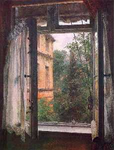 Adolph Menzel - View from a Window in the Marienstrasse
