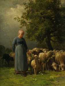 Charles Émile Jacque - The Missing Flock