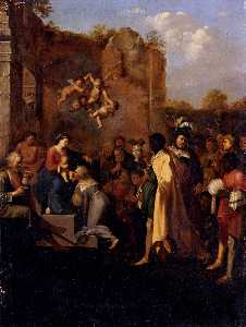 Cornelis Van Poelenburgh - Adoration Of The Magi
