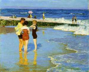 Edward Henry Potthast - At Rockaway Beach