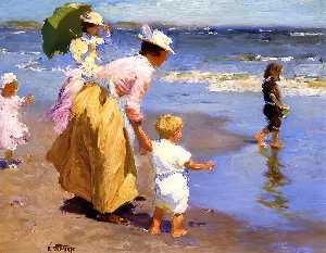 Edward Henry Potthast - At the Beach 1
