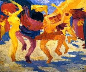 Emile Nolde - Dance around the golden calf