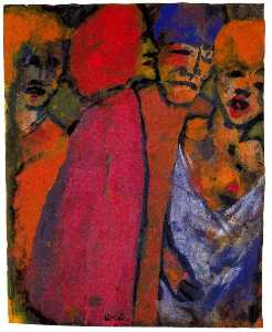 Emile Nolde - Encounter (Four Figures)