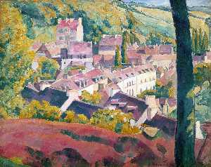 Emile Bernard - Pont-Aven Seen from the Bois d..