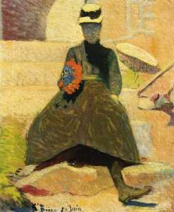 Emile Bernard - Woman at Saint-Briac