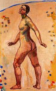 Ferdinand Hodler - Female nude walking