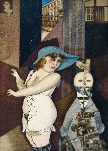 George Grosz - Daum marries her pedantic automaton--George--