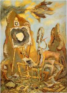 George Grosz - The Painter of the Hole I