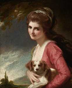 George Romney - Lady Hamilton as Nature