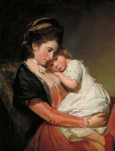 George Romney - Mrs Johnstone and her Son