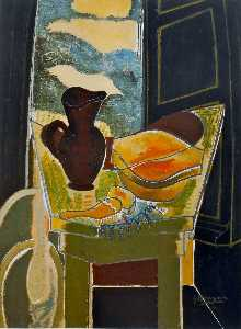 Georges Braque - Dressing Table In Front Of The Window