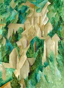 Georges Braque - La Roche-Guyon, The Castl..