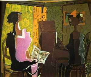 Georges Braque - The Duet (Le Duo)